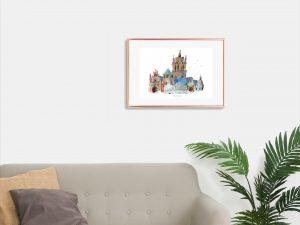 Cathédrale Notre-Dame de Rodez, Clocher, Tirage d'art
